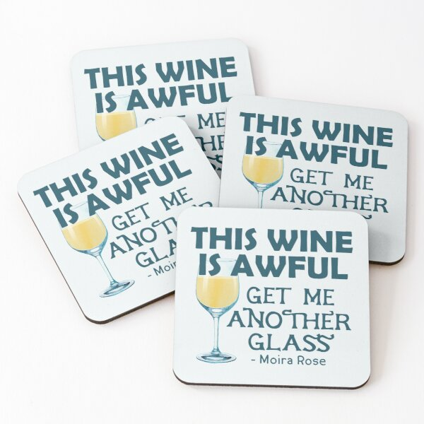 This Wine is Awful Get Me Another Glass Coasters (Set of 4)