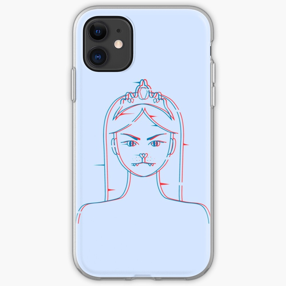 Cat girl 3d blurry iPhone Case & Cover