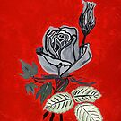 Shades of Gray with Roses by Anne Gitto