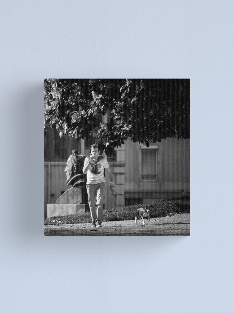 Alternate view of Walking The Dog Canvas Print