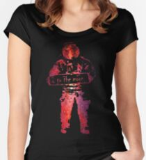 star filled Women's Fitted Scoop T-Shirt