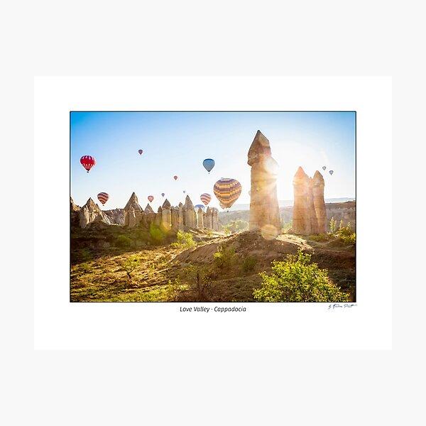 Hot air balloons over Love Valley, Cappadocia, Turkeys Photographic Print