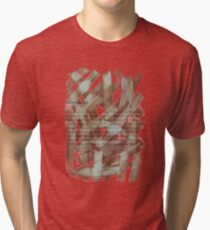 brush type brown Tri-blend T-Shirt