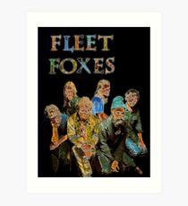 Fleet Foxes Art Print