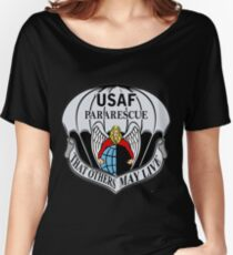 USAF Para Rescue Special Forces Logo Women's Relaxed Fit T-Shirt