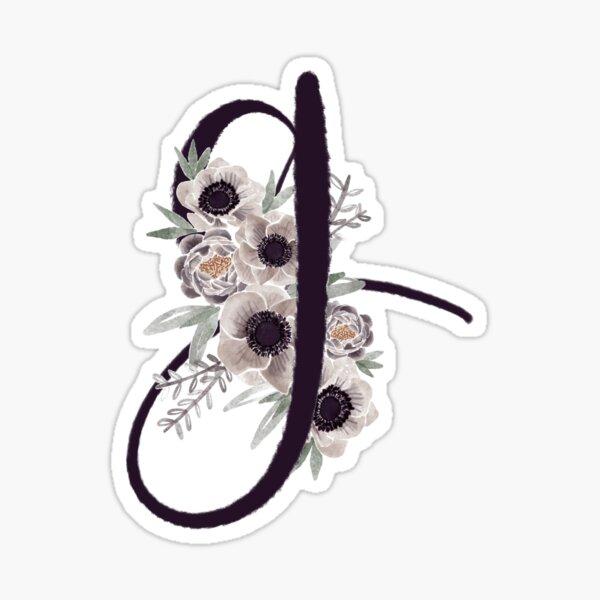 Bouquet G initial Sticker