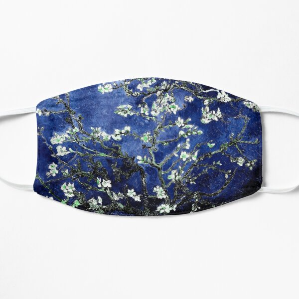 Vincent Van Gogh Almond Blossoms Deep Blue Flat Mask