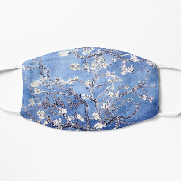 Vincent Van Gogh Almond Blossoms Blue Flat Mask