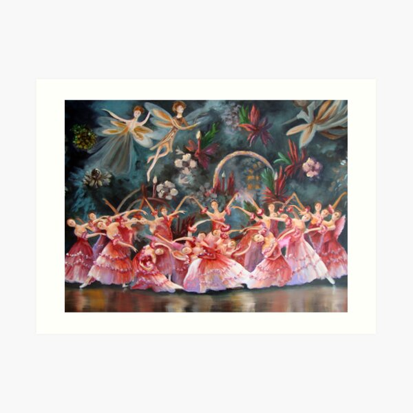 the Russian national ballet theatre of Moscow.. Art Print