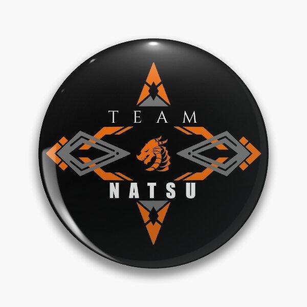 Natsu fire dragon orange Fairy tail anime emblem v2 Pin
