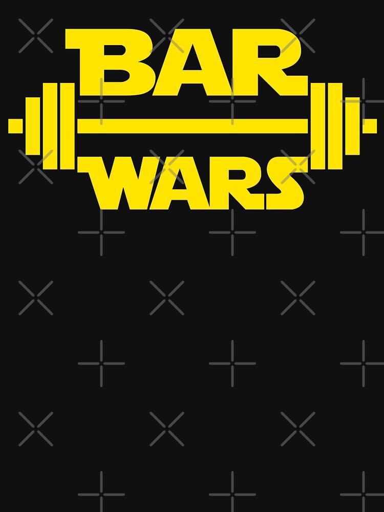 BAR WARS - Yellow/Dark Parody Design for Weight Lifters by ramiro