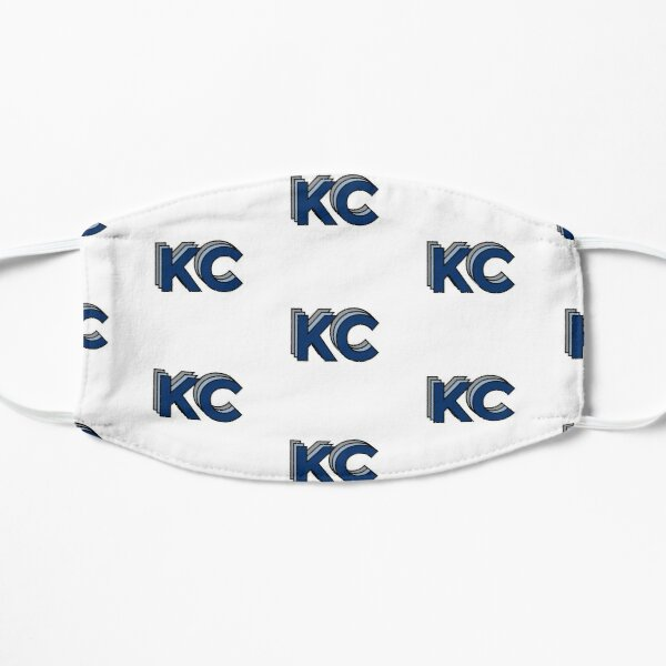 Retro KC Blue and Gray Mask
