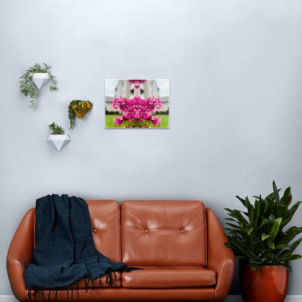 Symmetry of Pink Flowers Metal Print