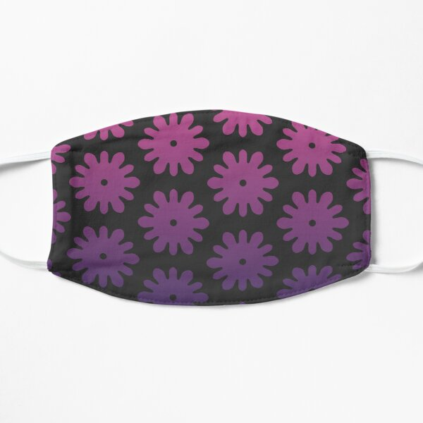 Pink to Purple Gradient Flower Pattern Mask