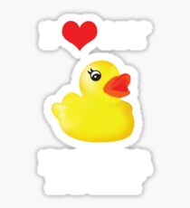I Love My Rubber Ducky [iPad / iPhone / iPod Case, Print & Tshirt] Sticker