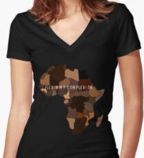 Flexin My Complexion Women's Fitted V-Neck T-Shirt
