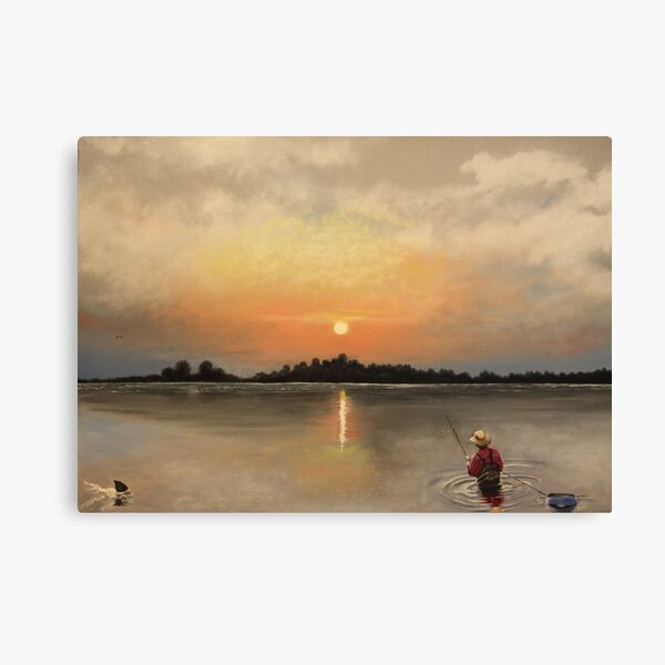 The Last Catch Of The Day Canvas Print