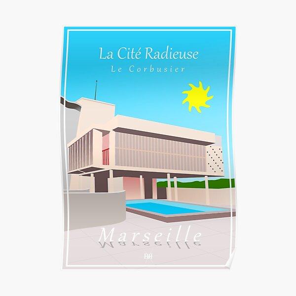 Marseille, Le Corbusier, La Cité Radieuse  Poster