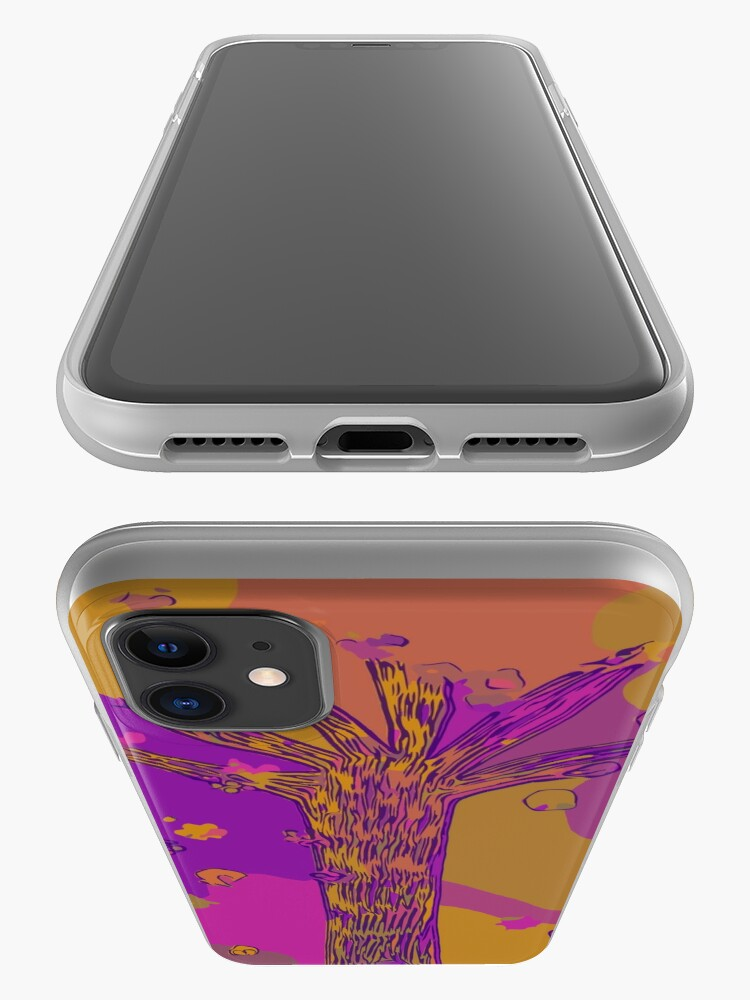Alternate view of Purple, Magenta, Gold Beautiful Autumn Abstract Fall Tree iPhone Case & Cover