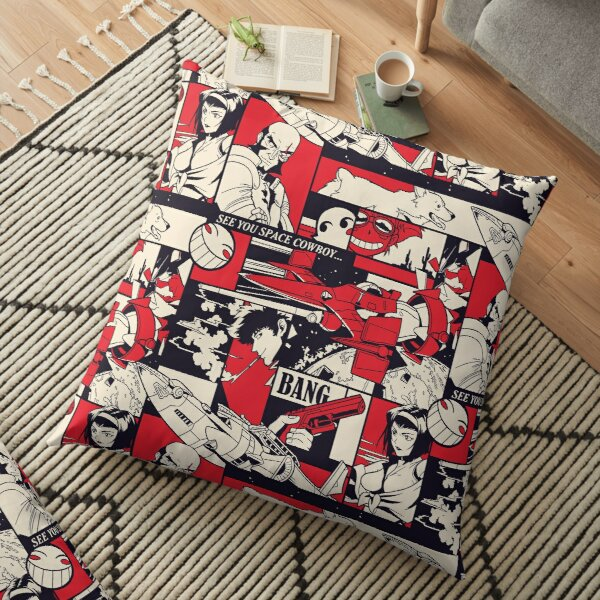 Bebop Pattern Floor Pillow