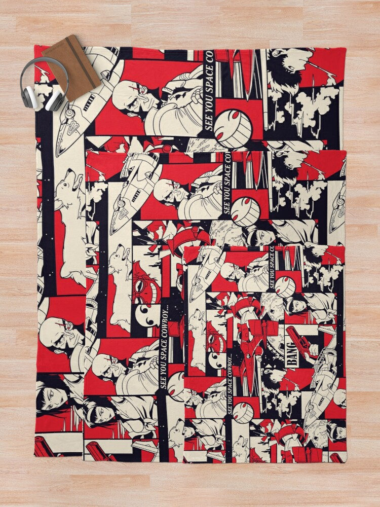 Alternate view of Bebop Pattern Throw Blanket