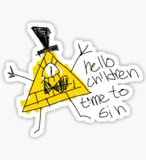 Hello Children time to Sin Sticker