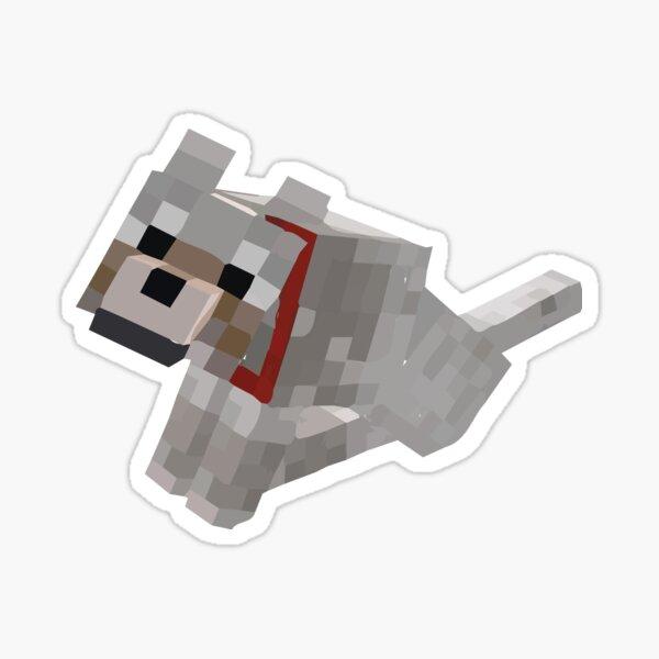 minecraft dog Sticker
