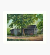 Country Shed Oil Painting Art Print