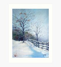 Winter Oil Painting Art Print