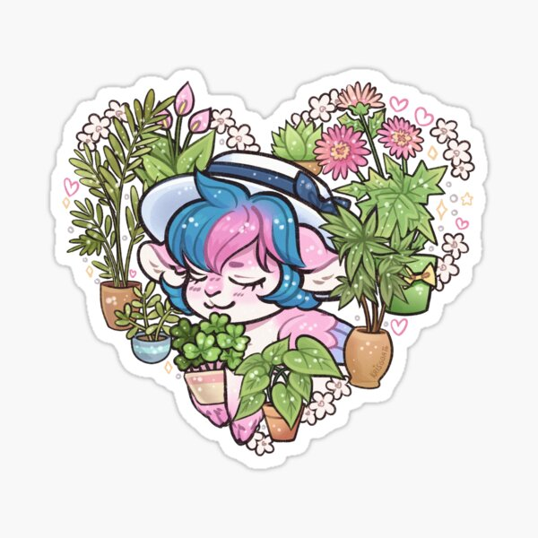 Goat Princess Plants Sticker