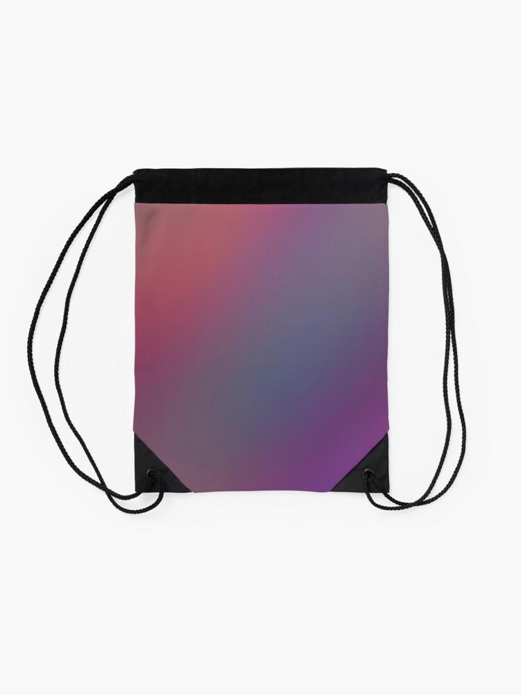 Alternate view of Purple Pink Background Drawstring Bag