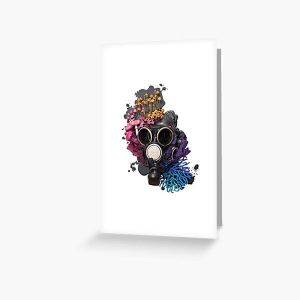 Breathe - Growth on Gaz Mask Greeting Card