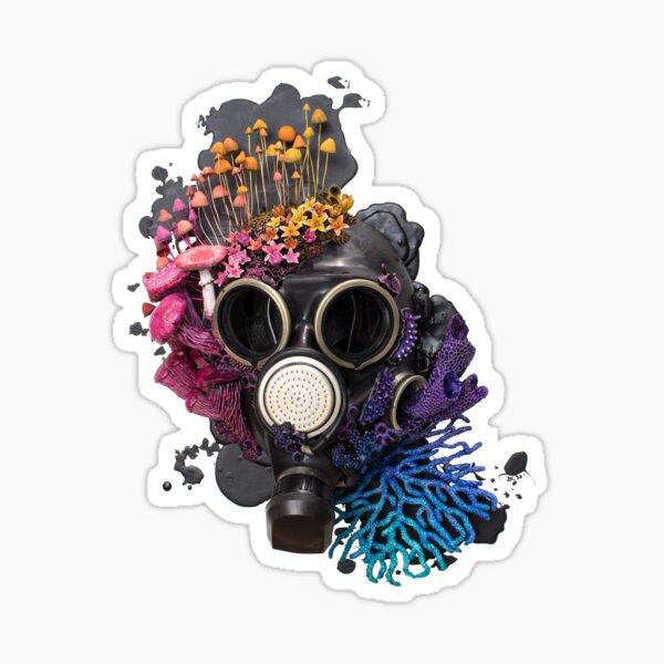 Breathe - Growth on Gaz Mask Sticker