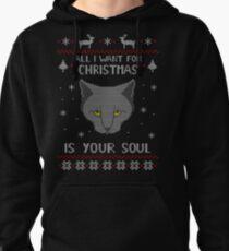 Alles, was ich zu Weihnachten will, ist dein SOUL - hässlicher Weihnachtsstrickpullover Hoodie