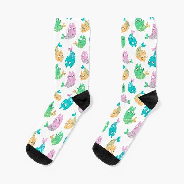 Pastel Purrmaids Socks