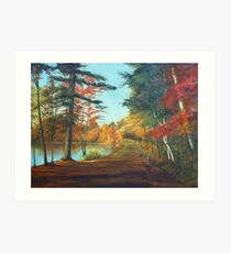 Forest Road Painting Art Print