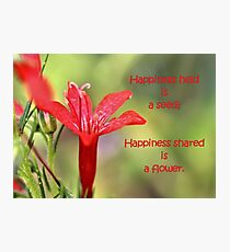Happiness Shared is a Flower Photographic Print