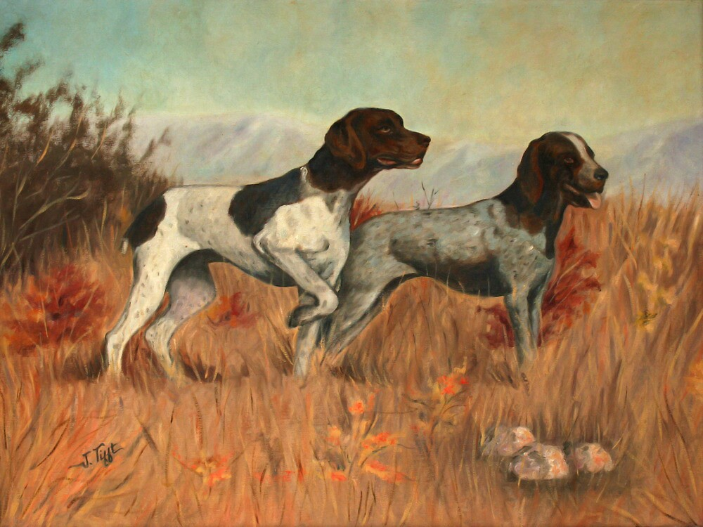 Hunting Dogs Painting by JamieTifft