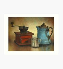 Coffee Pot and Grinder Painting Art Print