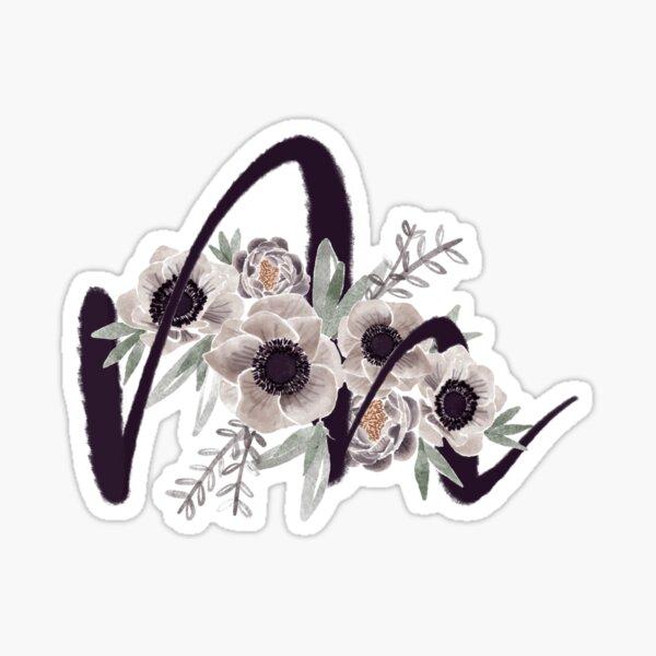Bouquet M initial Sticker