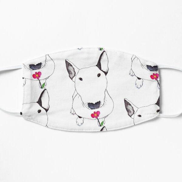 Bull Terrier Smelling Flowers  Flat Mask