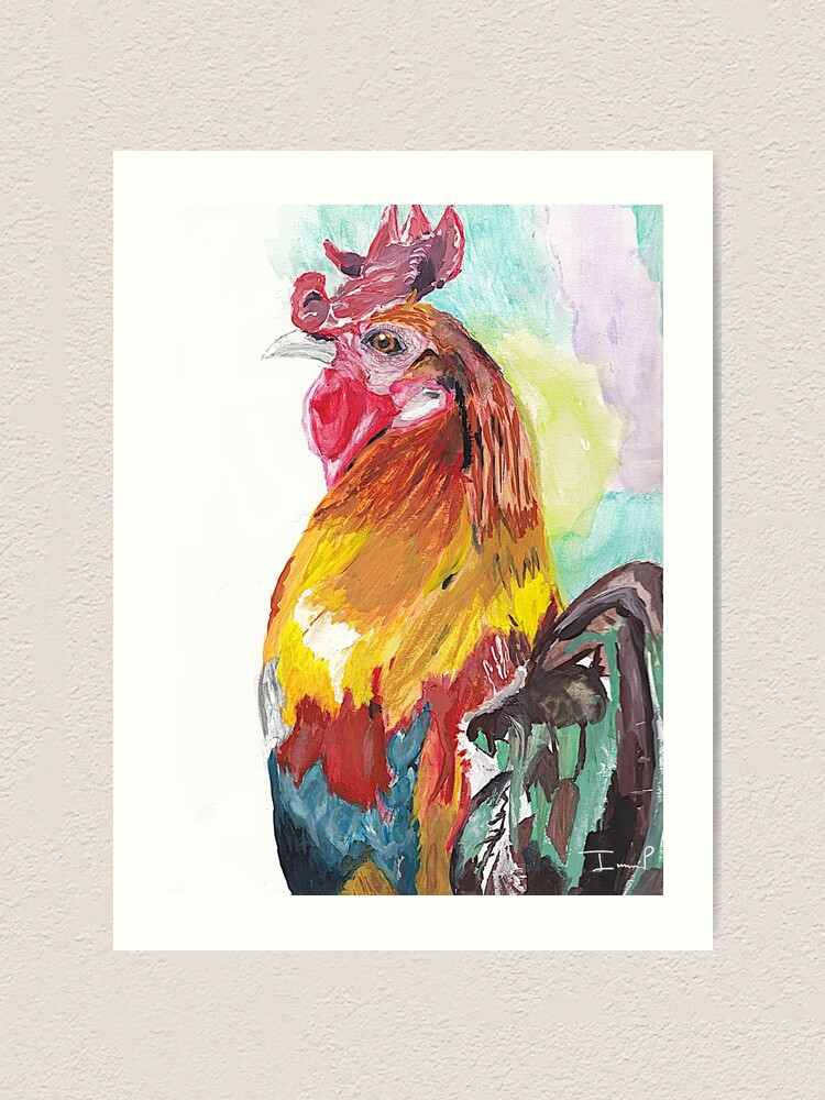 Alternate view of Rooster Art Print