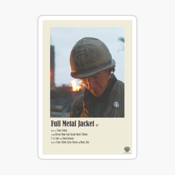 Full Metal Jacket Unchained Polaroid Film Poster Sticker