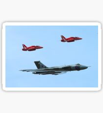 Red Arrows join the Vulcan Sticker
