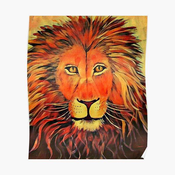 Blazing Lion Poster