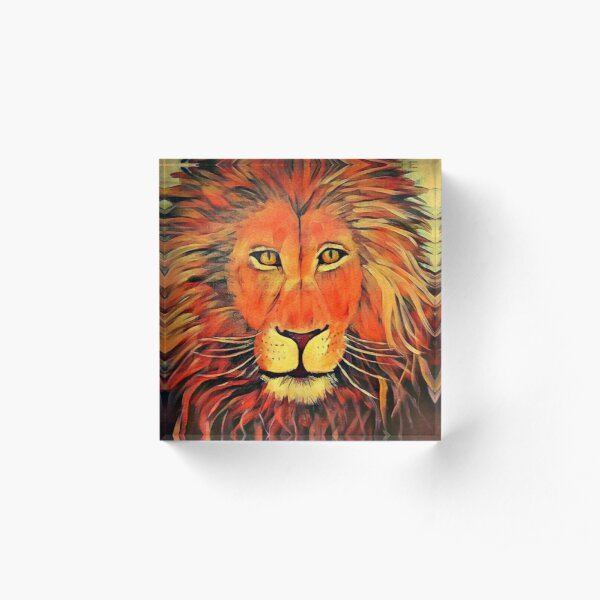 Blazing Lion Acrylic Block