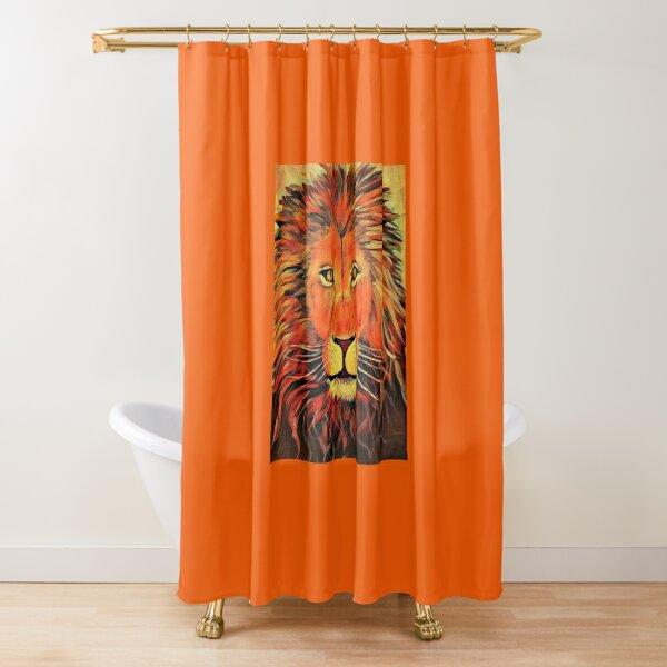 Blazing Lion Shower Curtain