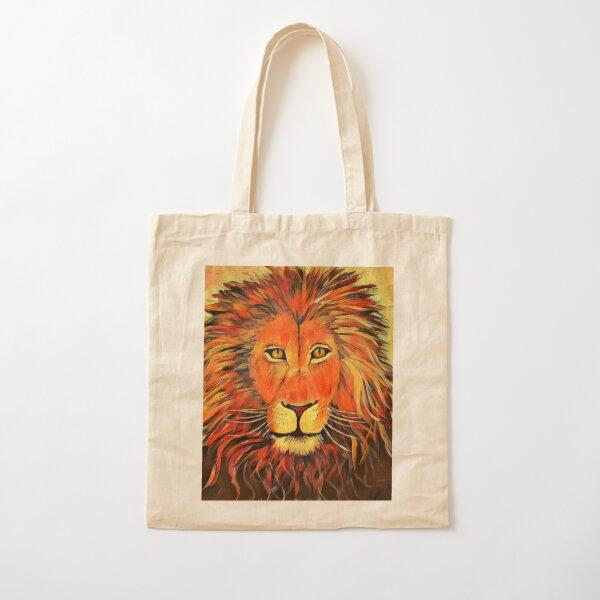 Blazing Lion Cotton Tote Bag