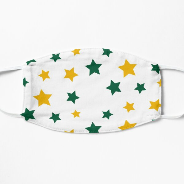 Green and Gold Stars Mask