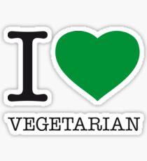 I ♥ VEGETARIAN Sticker
